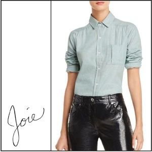"NWT { Joie } ""Brenta"" Shirred-Detail Shirt"